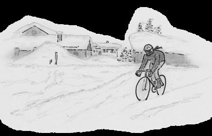 """Buchgrafik aus der Rennrad-Satire """"Gummibärchen auf die Dopingliste"""" von Paul Blaes"""