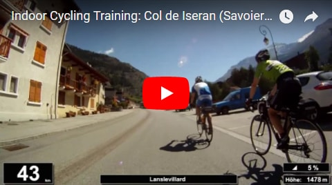 Col de Iseran Indoor-Cycling-Video auf Youtube (Alpen / Frankreich)
