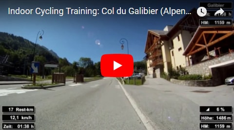 Col du Galibier Indoor-Cycling-Video auf Youtube (Alpen / Frankreich)