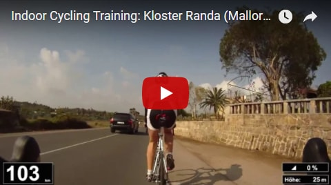 Kloser Randa Indoor-Cycling-Video auf Youtube (Mallorca)