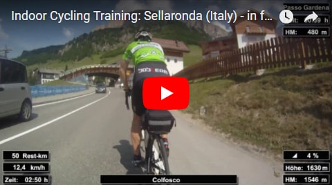 Sellaronda Indoor-Cycling-Video auf Youtube (Alpen / Italien)