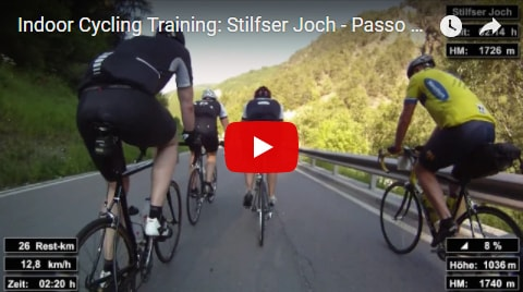 Stilfser Joch Indoor-Cycling-Video auf Youtube (Alpen / Italien)