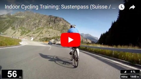 Sustenpass Indoor-Cycling-Video auf Youtube (Alpen / Österreich)