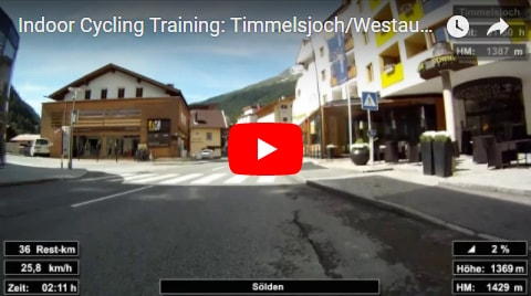 Timmelsjoch Indoor-Cycling-Video auf Youtube (Alpen / Österreich)
